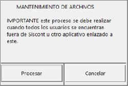 Mantenimiento de archivos