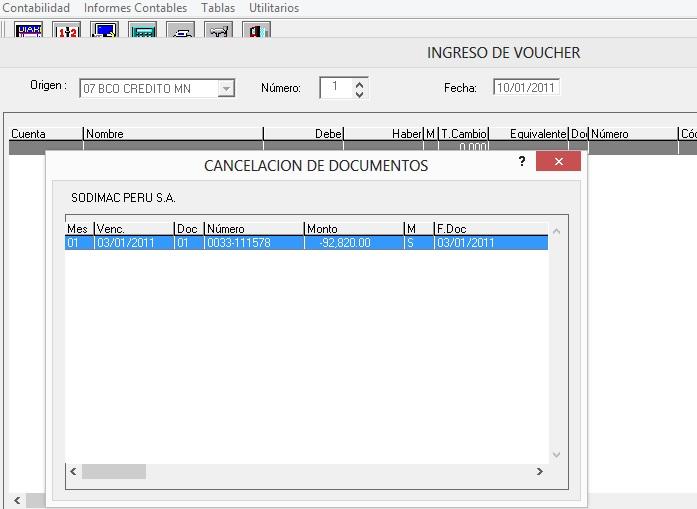cancelacion de documentos siscont
