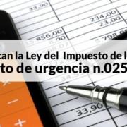 decreto de urgencia n.025